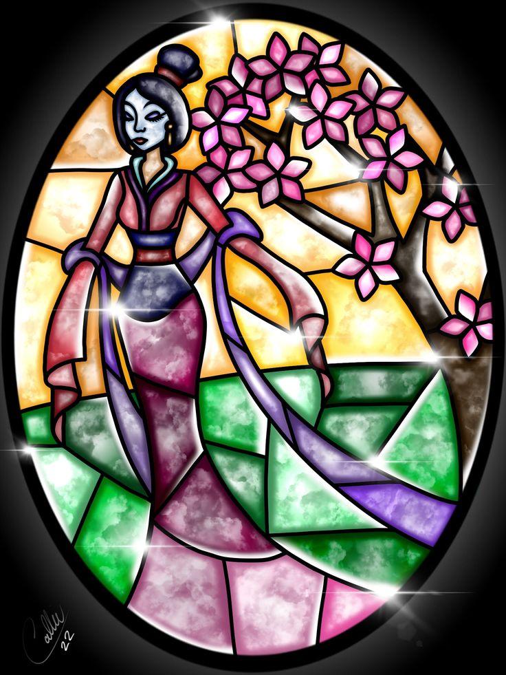 Stained Glass Mulan by CallieClara.deviantart.com on @DeviantArt