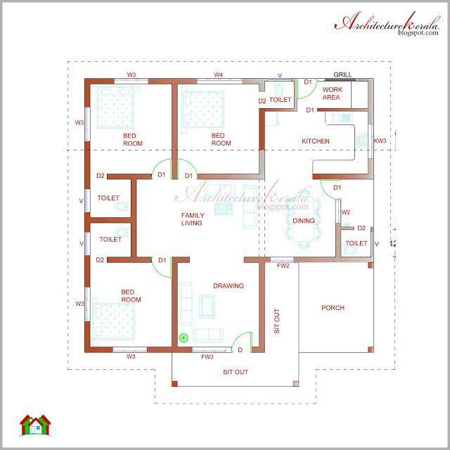 Kerala Style Homes Plans Free Basement House Plans House Plans With Photos Square House Plans