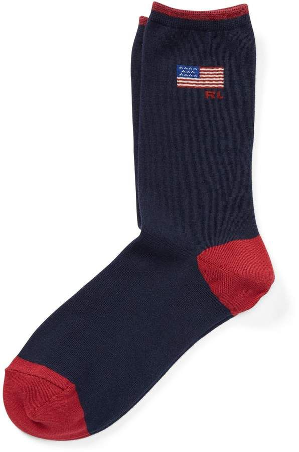dc0e11a6a59 Ralph Lauren American Flag Trouser Socks