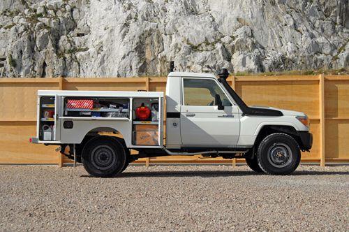 toyota utility truck bed bing images. Black Bedroom Furniture Sets. Home Design Ideas