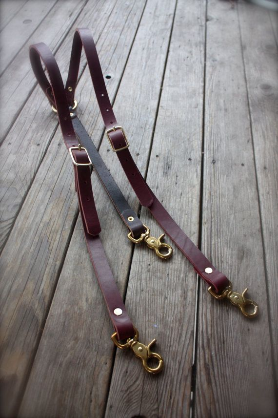 These are sexy. Dual color suspenders with brown/oxblood combo, brass hardware, adds classy steampunk flare to any outfit. They are heavy duty made from 10 ounce genuine bridal leather, available in different colors (check out my page to see more options!) Ask about groomsmen sets/discounts.  Notice:Due to the custom and made-per-order nature of this product i do not offer any exchanges or refunds.