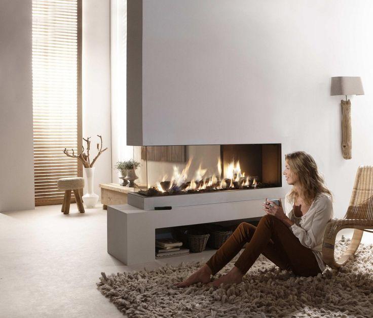 Element4 Lucius Roomdivider 2-3 glas gesloten inbouw gashaard - Haard & Vloer