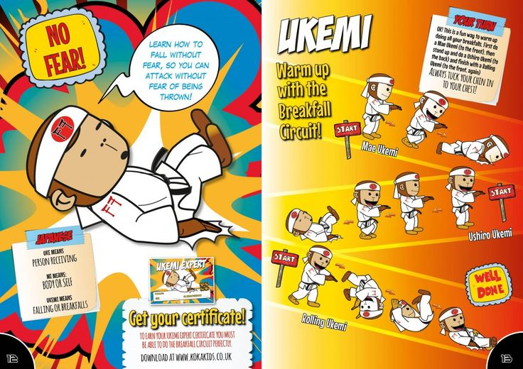 Judo moves for kids. First learn how to breakfall. The Koka Kids magazine teaches children about judo.
