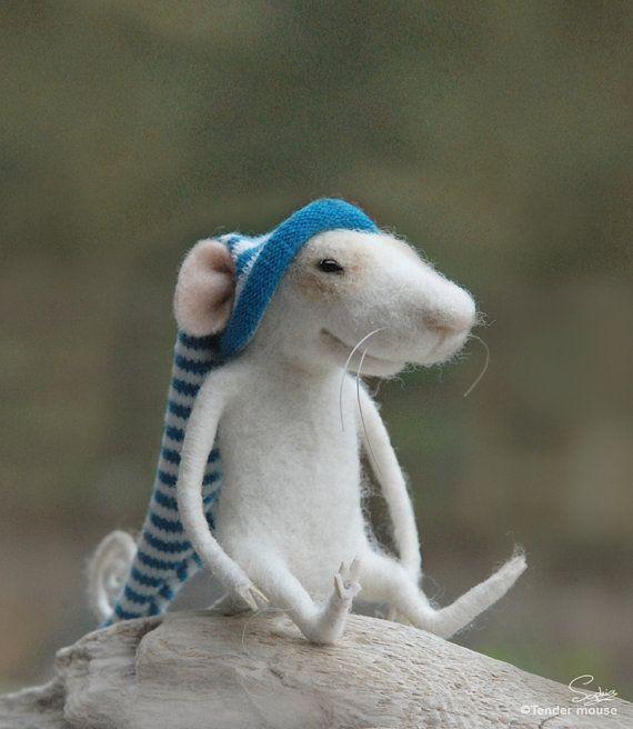 Felt miniature,felt mouse,needle mouse,art and collectibles,tender mouse,eco gift,fairy,mice,dolls & miniatures,felt figurine,felt ornament,