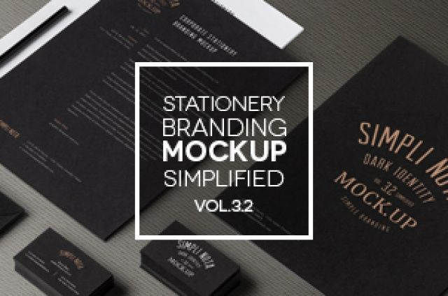 This is the simplified psd stationery identity kit version of our 3.x dark themed branding mockup series. It includes all the...