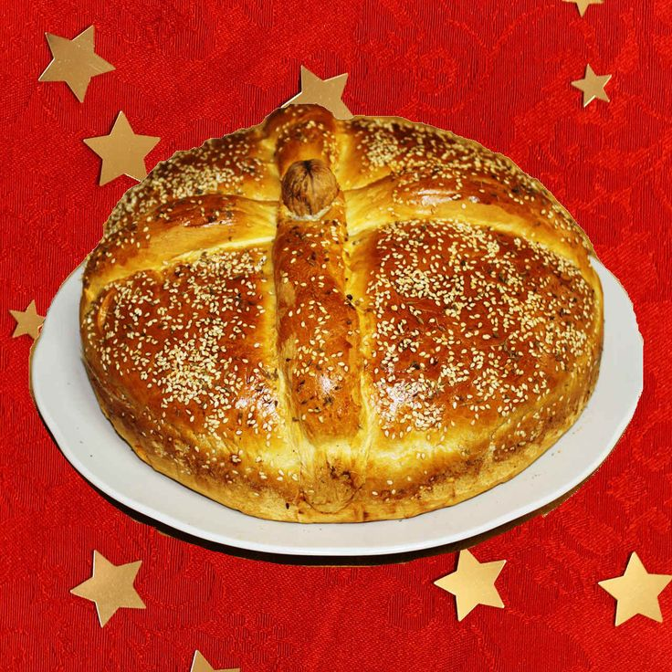 Christopsomo, or Christ's Bread, is one of my favorite Christmas bread recipes. #christmasrecipes #christmasbread
