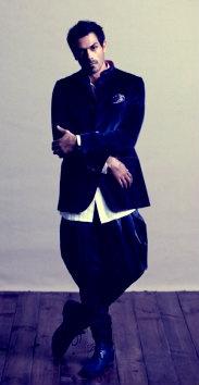 Arjun Rampal in Nehru collar velvet #jacket and #jodhpurs  Courtesy: GQ #India #sartorial