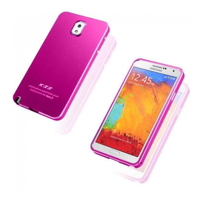 KXX (Voimakas Pinkki) Samsung Galaxy Note 3 Metalli Suojakuori - http://lux-case.fi/catalog/product/view/id/23790/s/kxx-hot-pink-samsung-galaxy-note-3-metal-case/