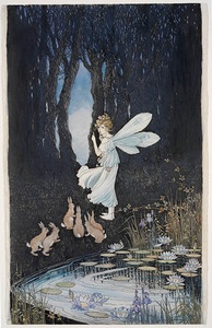 Fairies by Margaret Clark, Australian painter and illustrator, born in 1901. Commissioned in 1918 to decorate confectionery boxes for the firm of Sweetacres   State Library of New South Wales, Pictures Catalogue