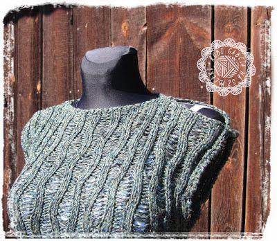 Robi Gabcia Na Szydełku  #RobiGabciaNaSzydelku #knit #knittunic #greentunic