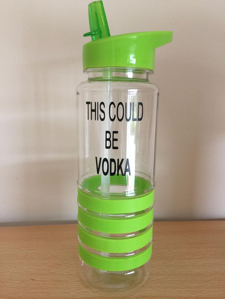Gym bottle this could be vodka green sportsbottle motivation gym gift Christmas flip lid red quote sports by LoveartsGifts on Etsy