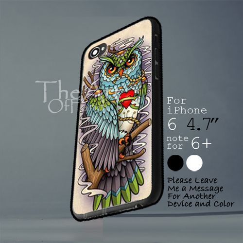 sugar skull owl  Iphone 6 note for  6 Plus