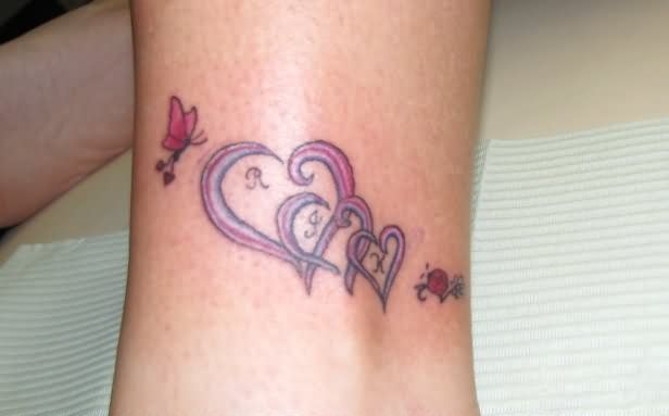 tattoo designs for grandchildren | Family Hearts Tattoo