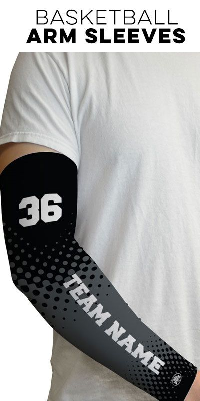 Personalized number and team name basketball arm sleeves - Check out the full collection on ChalkTalkSPORTS.com