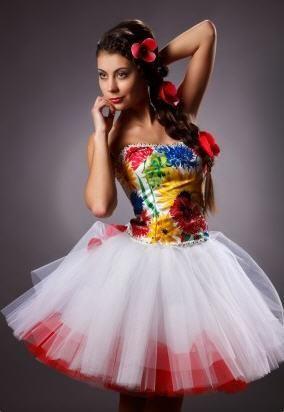 Выпускное платье в украинском стиле
