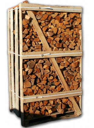 Logs Direct supply a two cubic metre crate of kiln dried Alder logs, roughly equivalent to 3 dumpy bags, kiln dried to less than 20% moisture content. The crates can be delivered to address throughout the UK.