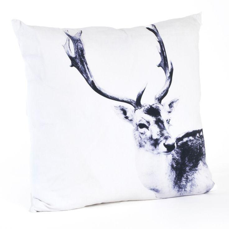 Deer Cotton Throw Pillow
