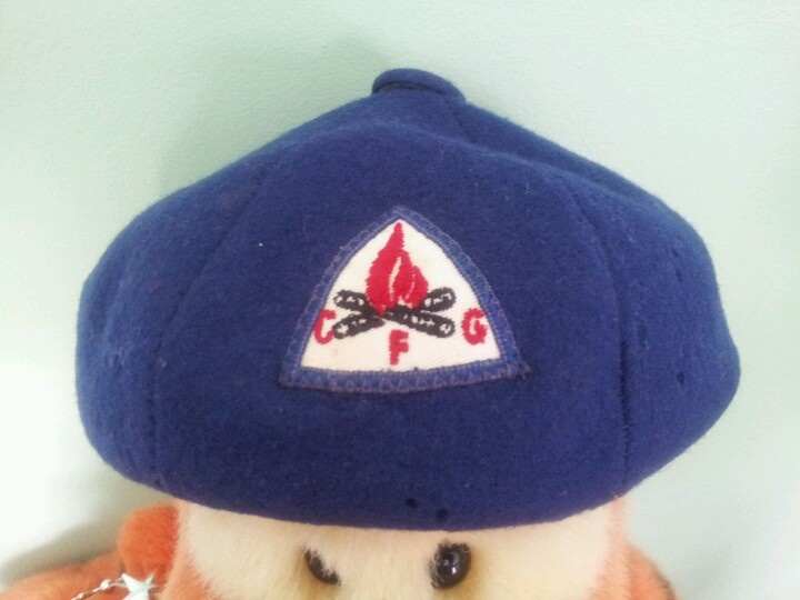 Camp Fire Girls Hat Childhood Memories Girl With Hat