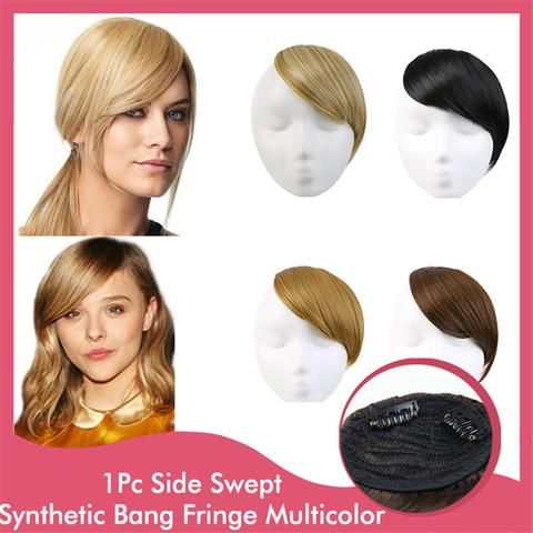 8 best hair extension images on pinterest hair and chignons 1pc natural clip in hair bangs natural real front neat bang fringe hairpiece straight hair extensions pmusecretfo Image collections