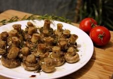 Balsamic and Rosemary baked mushrooms. - This simple side dish is perfect alongside a meaty main dish or roasted vegetables.