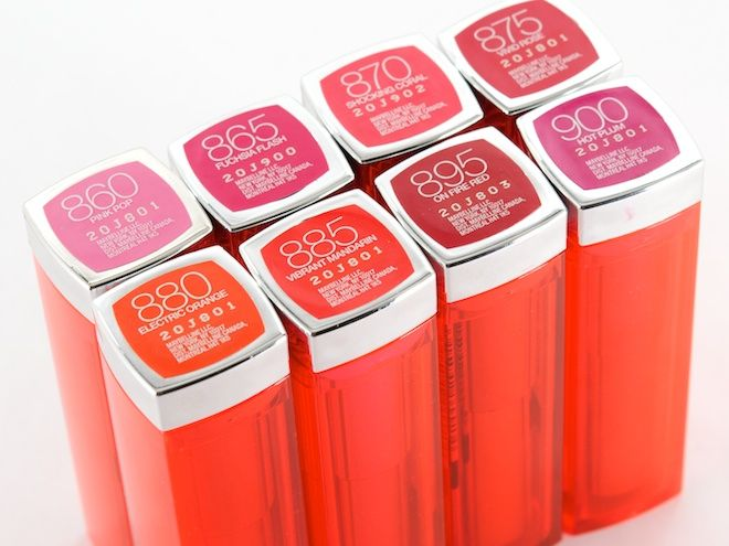 So many gorgeous shades in the Maybelline coloursensation vivids collection - I've got shocking coral and neon red