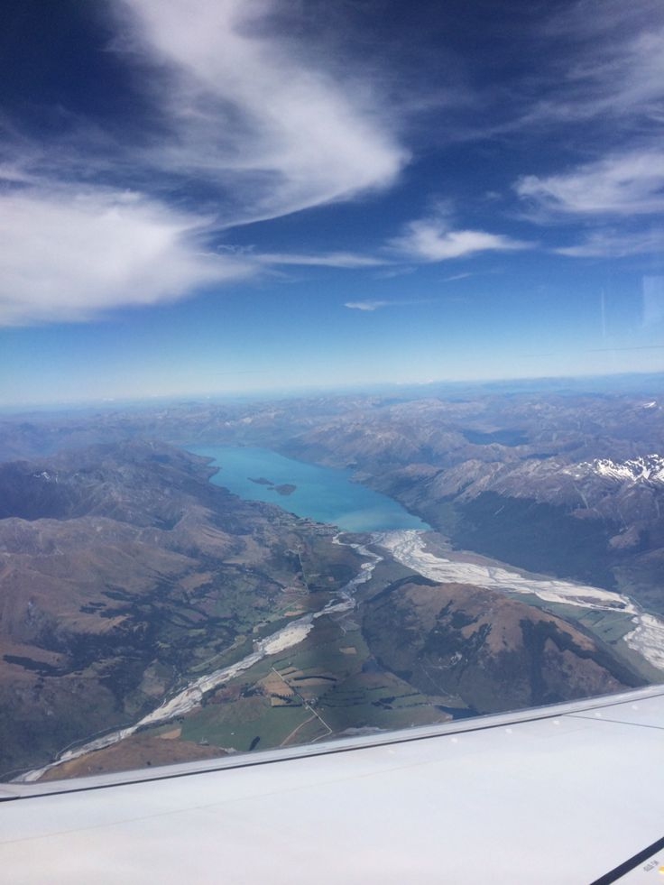 Queenstown from the plane