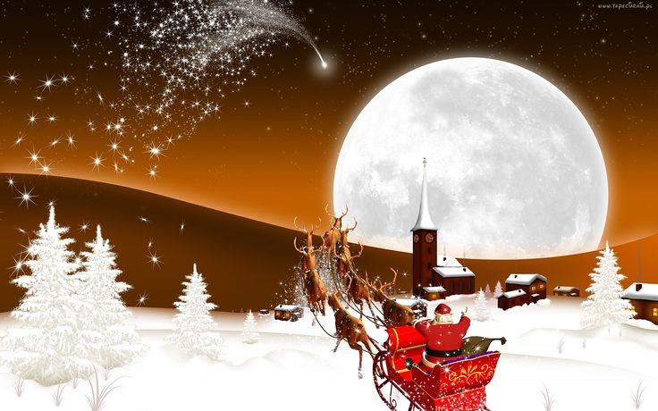 Mikołaj, Sanie, Zaprzęg, Boże Narodzenie