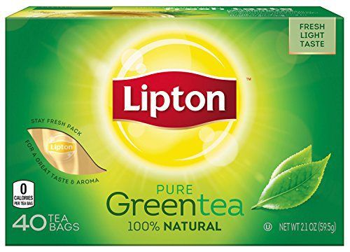 Lipton Green Tea Bags, 40 ct - http://teacoffeestore.com/lipton-green-tea-bags-40-ct/