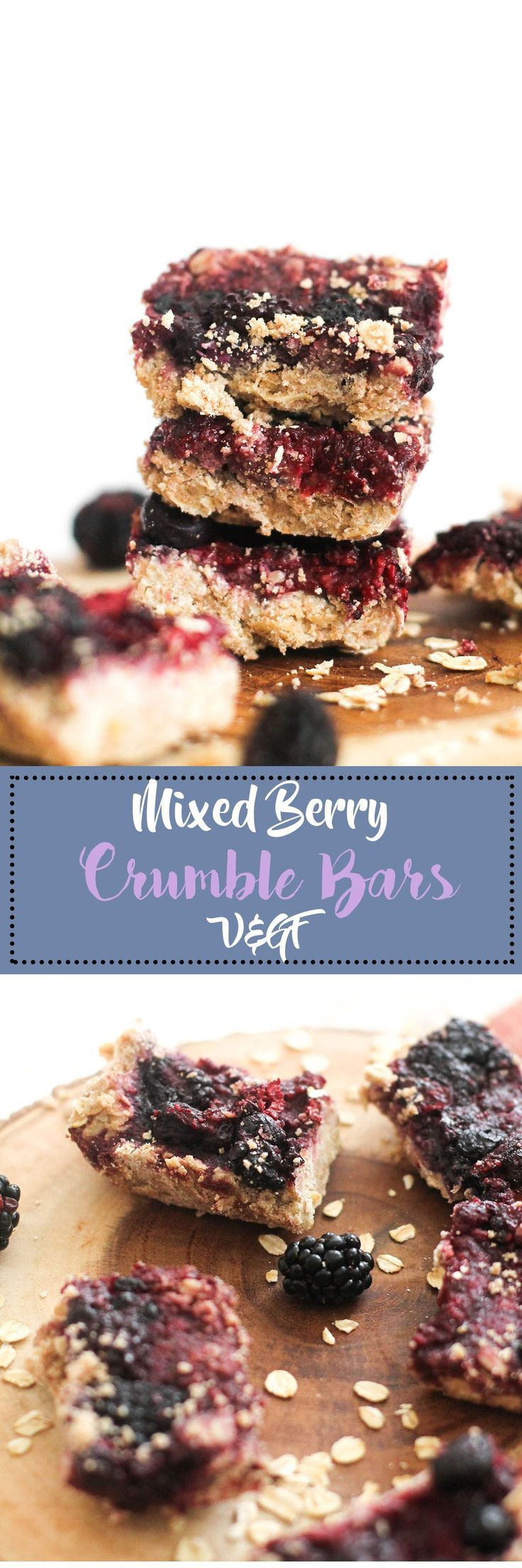These mixed berry crumble bars are vegan, gluten free, and the perfect dessert! They're made with real ingredients, require minimal ingredients, and are incredibly delicious.