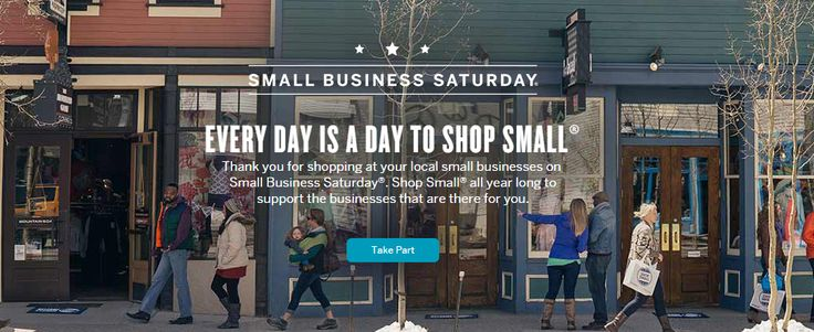"""A very nice campaign, in which American Express introduces the """"Small Business Day"""", a day for shopping in small stores. US, 2013."""