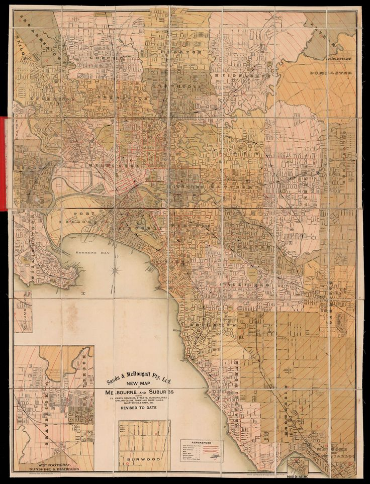 Map of Melbourne back in the 1920 days! Plenty of spare land in Port Melbourne then!