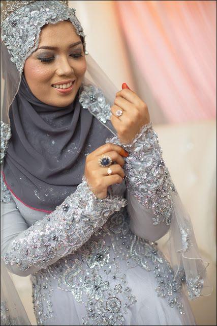 NinaAz the Beauty of Life: Wedding Reception Review: Shawl & Baju Pengantin
