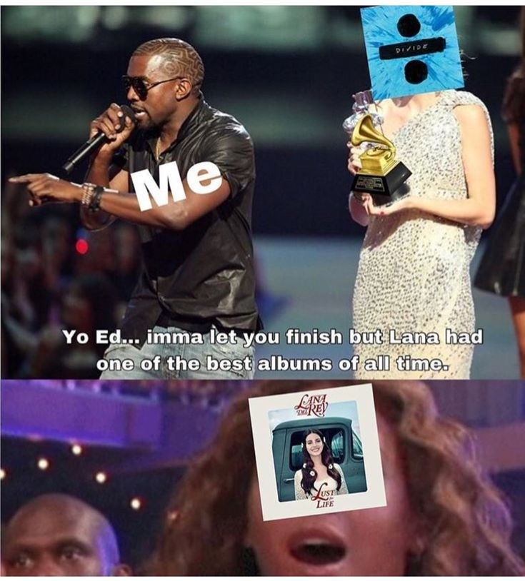 Lana Del Rey x Ed Sheeran Grammys meme lol