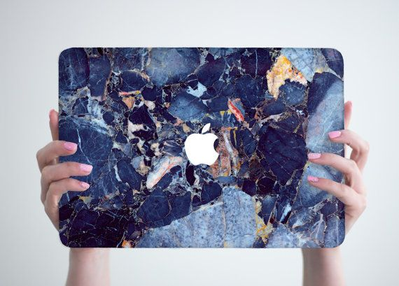 Blue Marble Macbook Case Hard Marble Macbook by RealDesignRocks