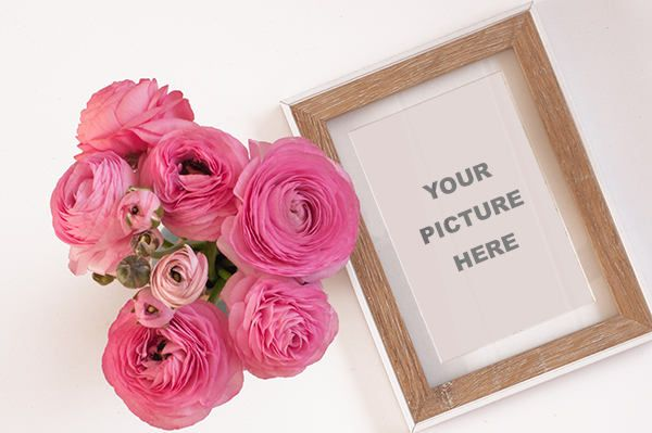 Ranunculus with frame by artidentity on Etsy