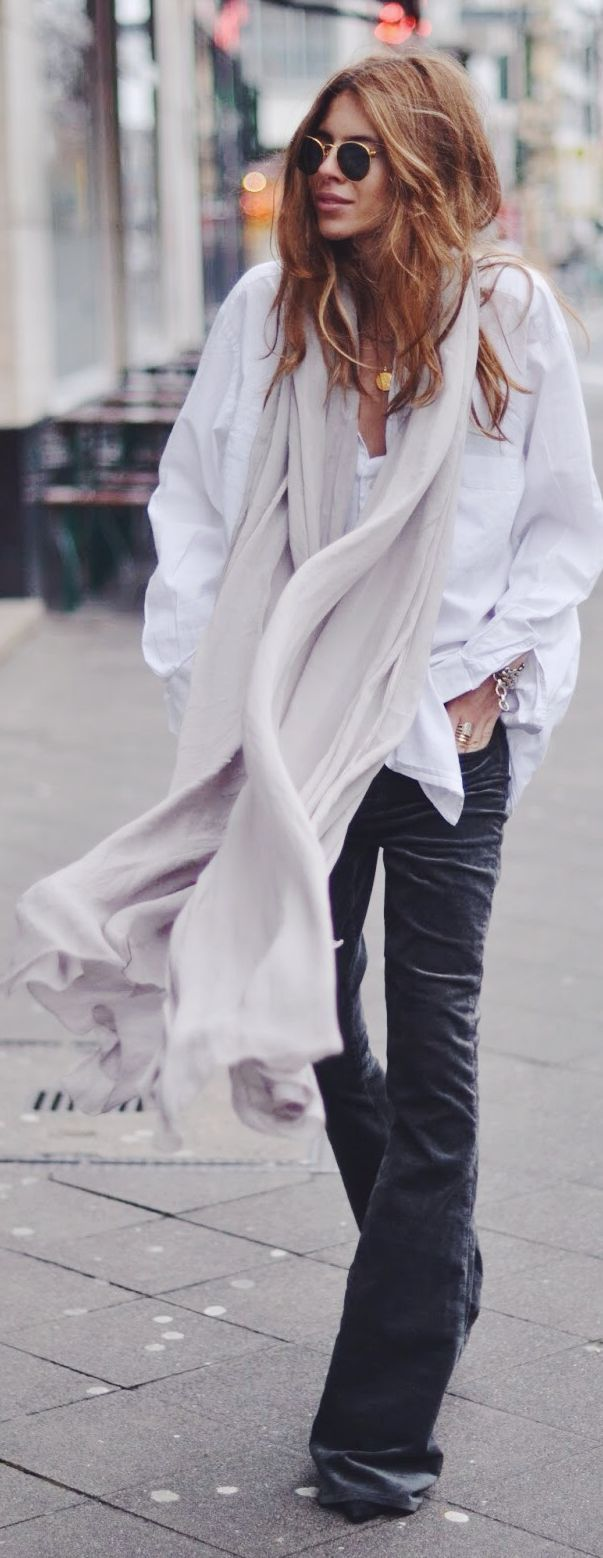 Light Grey Oversize Scarf by MAJA WYH