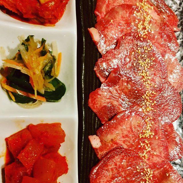 #門前仲町 #焼肉ドラゴン #焼肉 #肉 #肉食 #牛タン #タン塩 #キムチ盛り合わせ #外食 #晩御飯 #ディナー