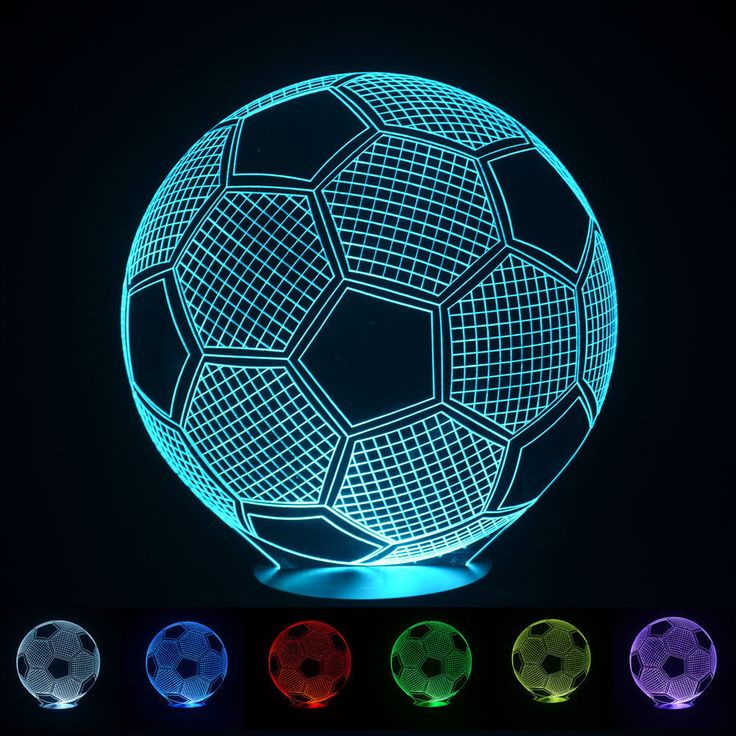 2016 3D Football Light Night Lampe Deco Led Lava Lamp Touch Switch Table Desk Lamp Led Light dinning room design