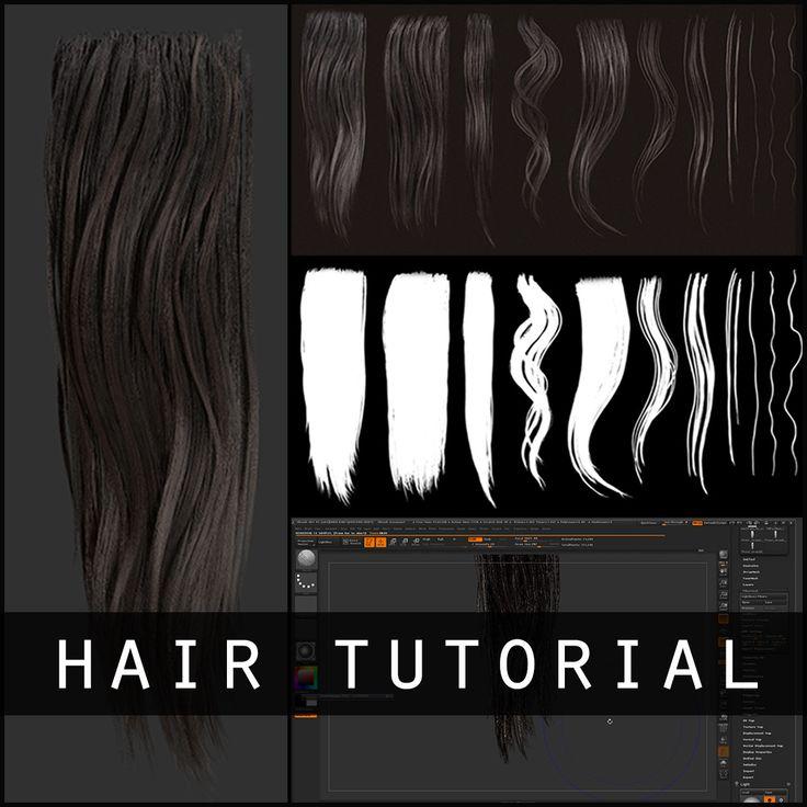 zbrush hair ideas
