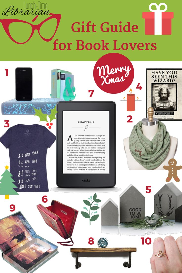 Looking for some bookish gifts for the holiday season? Here's a gift guide for book lovers, listing 10 unique gifts for people who love books!