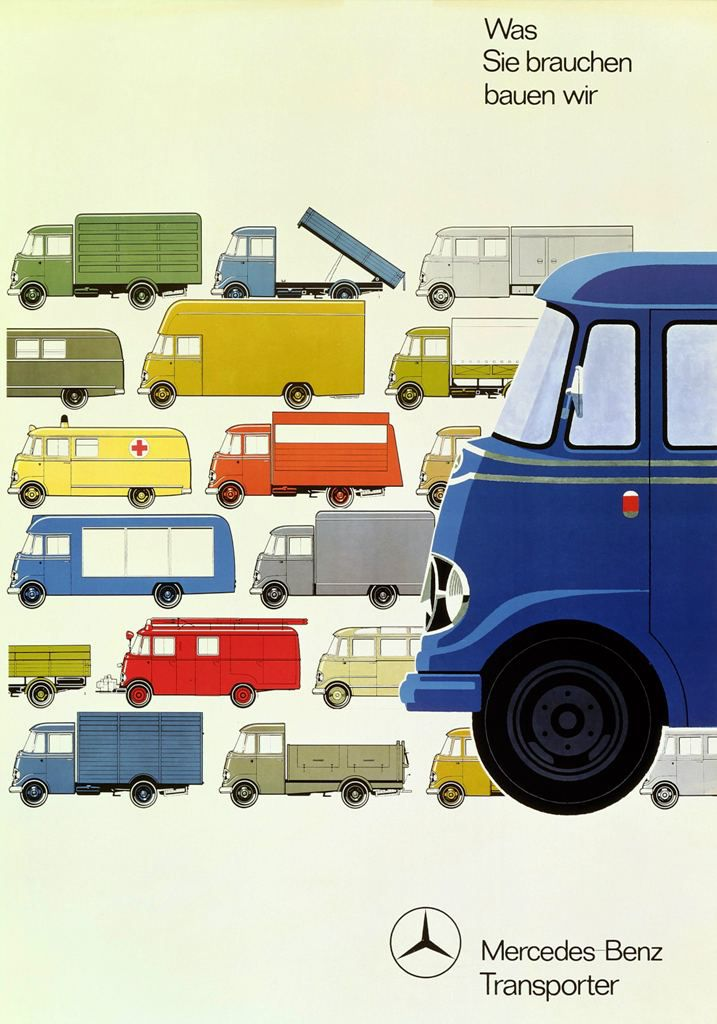 1960's Mercedes Truck brochure cover. Good, clean, design.
