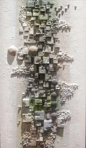 """""""Percorsi""""  cm 60 x 105 Tecnica: polimaterica"""