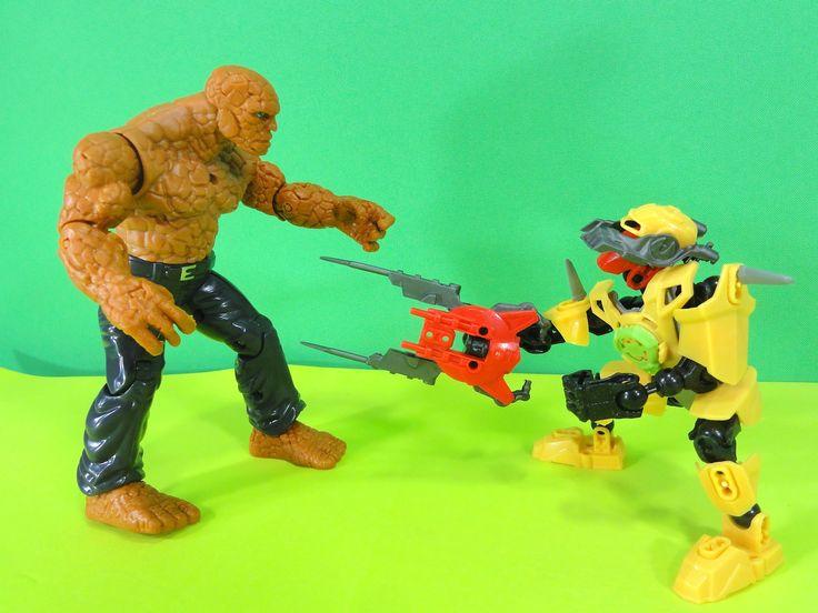 superherois de brinquedo: Quarteto Fantastico, O Coisa, Ironbuilder