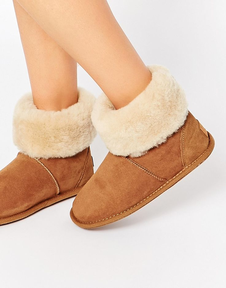 ASOS Just Sheepskin Albery Sheepskin Slipper Boots