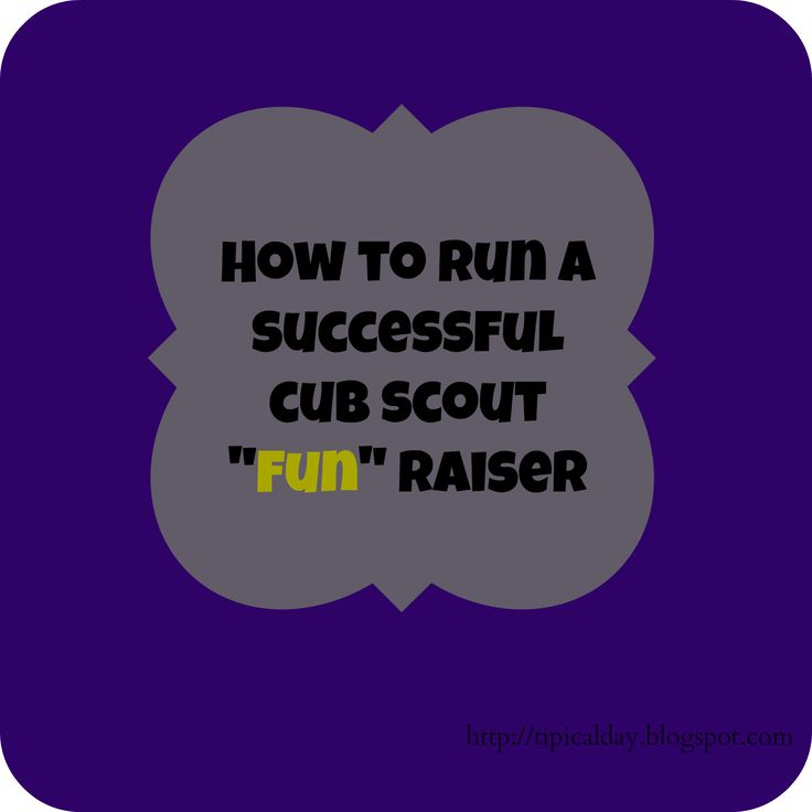 How to Run a Successful Cub Scout Fundraiser Part 1