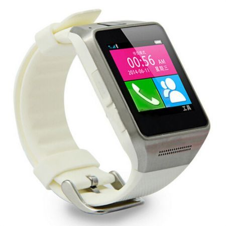 Gv08 Smart Watch Android Mobile Phone with Spy Camera Touch Screen Color White