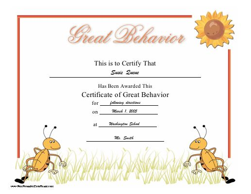 Best Certfcate Images On   Printable Certificates