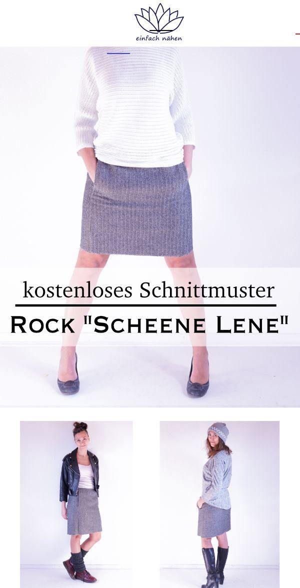 kostenloses Schnittmuster Rock Scheene Lene für einfach