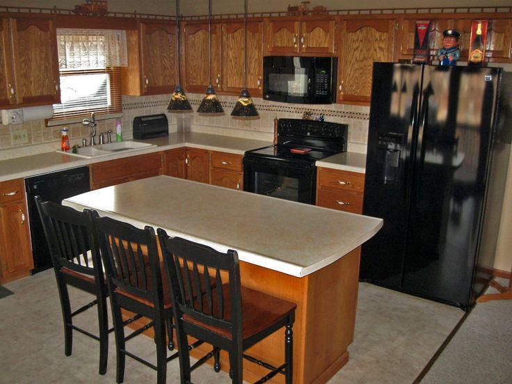 Kitchen Cabinets Black Appliances