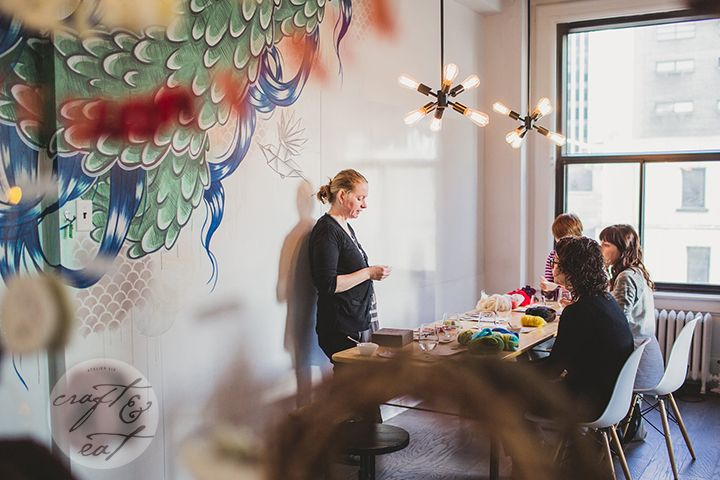 Atelier Six Craft & Eat Workshop with Suzanne Paquette | via @the_milliner